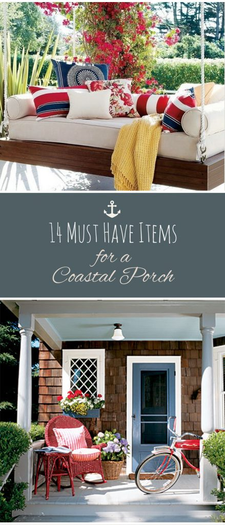 Coastal Porch, Porch Decor, DIY Home, DIY Porch Decor, Porch Decor, Porch and Patio, Popular Pin, Coastal Home, DIY Home Decor, DIY Coastal Home