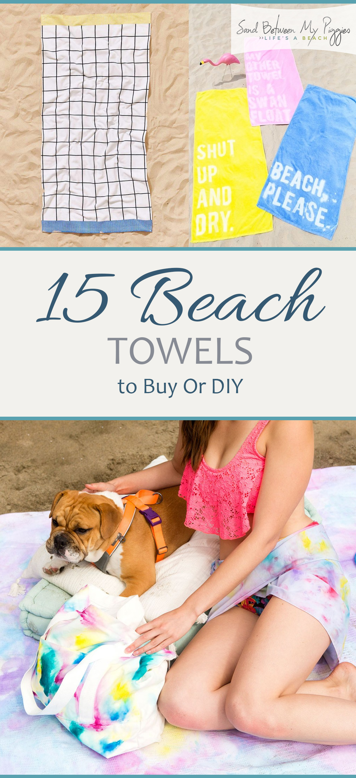 Beach Towels, Homemade Beach Towels, Beach Towels for Less, Beach Hacks, Handmade Beach Towels, Easy DIY Beach Towels, Popular Pin