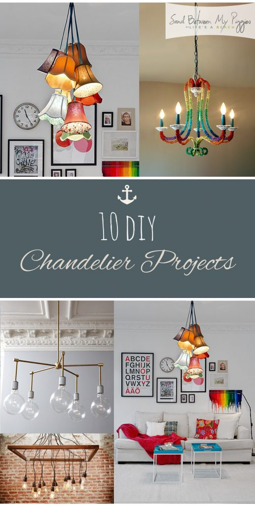 10 DIY Chandelier Projects - DIY lighting, DIY Lighting Ideas, Chandelier Projects, DIY Chandeliers, Lighting Ideas For the Home, Easy Lighting Upgrades For The Home.