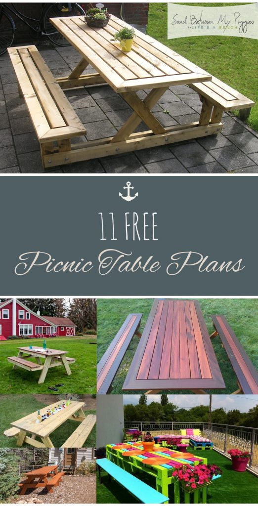 11 FREE Picnic Table Plans  DIY Picnic Table, Picnic Table Plans, Build Your Own Picnic Table, How to Build Your Own Picnic Table, Outdoor DIY, Outdoor DIY Projects, Outdoor Furniture Projects, Make Your Own Furniture, Popular Pin