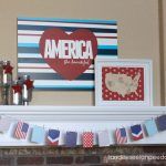 Fabulously Fresh Mantlepieces for the Fourth| Mantlepiece Decor, Mantlepiece Decor Ideas, How to Decorate Your Mantlepiece, Holiday Mantlepiece DIYs, DIY Home, Fourth of July Decor, Fourth of July Decor Ideas, Popular Pin