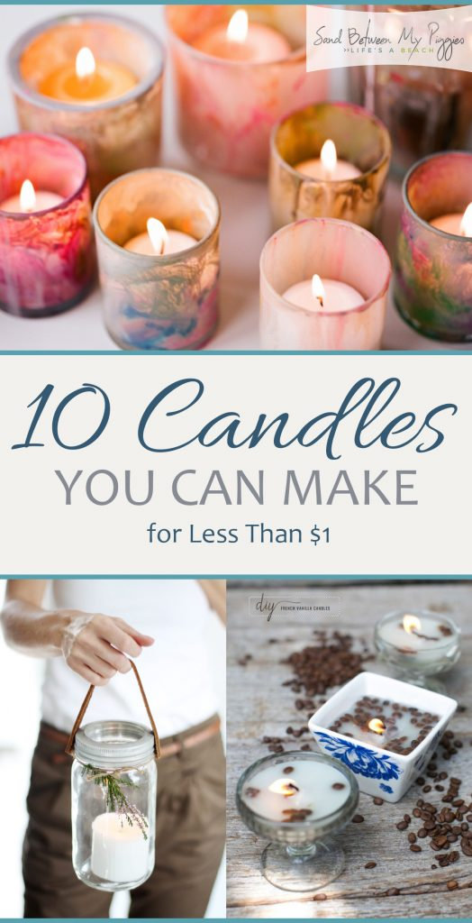 10 Candles You Can Make for Less Than $1| DIY Candles, Candle Projects, How to Make Your Own Candles, DIY Candles Projects, Natural Living, Homemade Candles, Popular Pin
