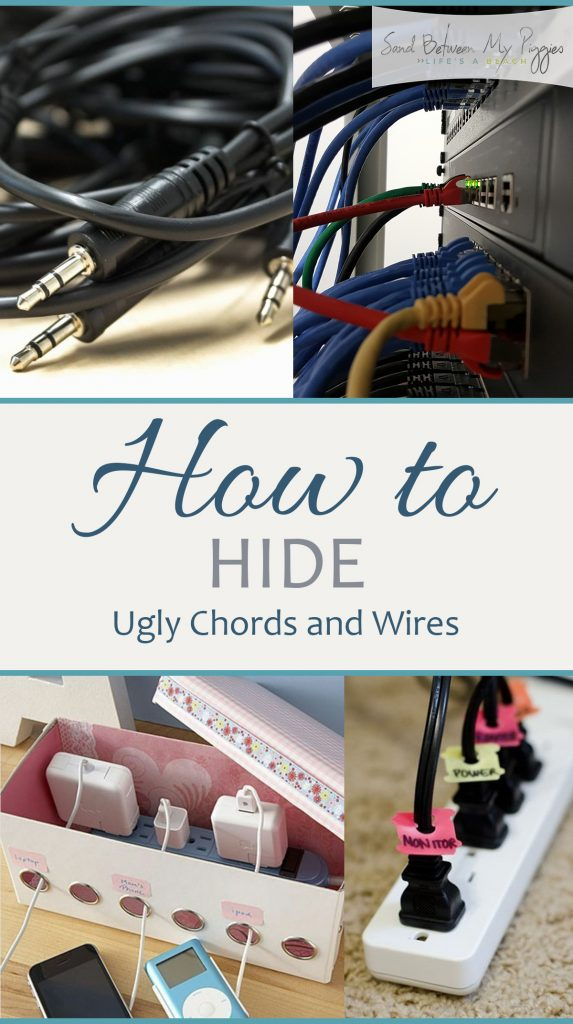 How to Hide Ugly Chords and Wires| Hiding Chords and Wires, How to Hide Chords and Wires, Home Organization and Storage, Home Organization Hacks, Popular Pin