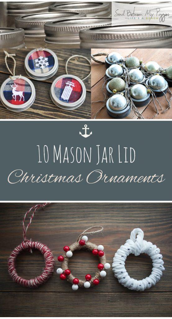DIY mason jar Christmas ornaments  Christmas Ornaments, DIY Christmas Crafts, Mason Jar Christmas Ornaments, Mason Jar Crafts, Mason Jar Craft Projects, Craft Projects, Craft Projects for the Home #ChristmasCrafts #ChristmasOrnaments #HolidayCrafts