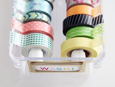 Create a Washi Tape Dispenser  Washi Tape, DIY Washi Tape, Washi Tape Organization, Washi Tape Storage, DIY Washi Tape Organization and Storage, Washi Tape Storage Dispensers, DIY Storage, Popular Pin #WashiTape #WashiTapeStorage #WashiTapeOrganization