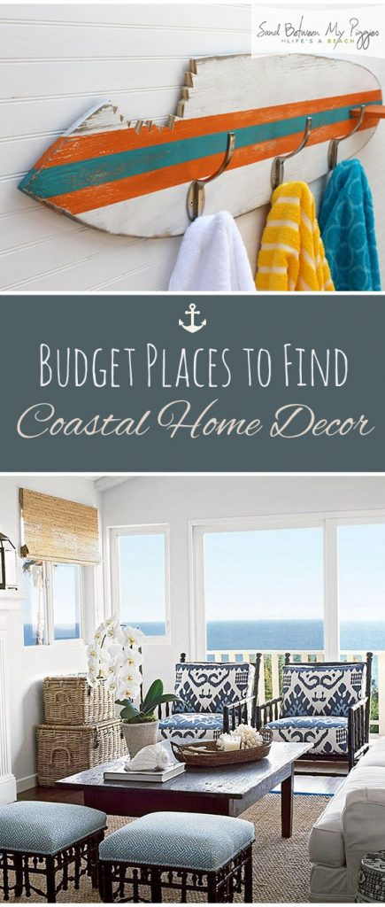 Budget Places to Find Coastal Home Decor| Coastal Home Decor, Coastal Home Design, DIY Coastal Home Decor, DIY Coastal Decor, Home Decor, Easy Home Decor