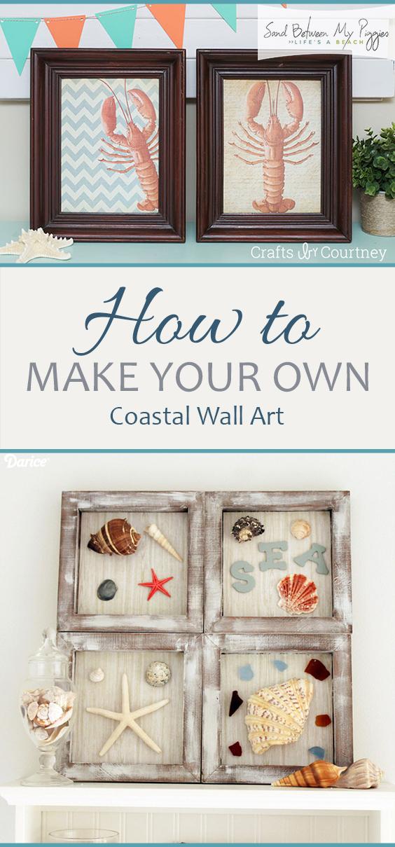 How to Make Your Own Coastal Wall Art| Coastal Wall Art, Coastal Wall ARt Ideas, DIY Coastal Wall Art, DIY Wall Art, DIY Home Decor, DIY Projects