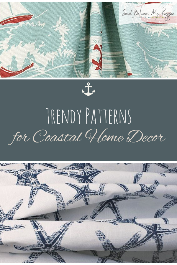 Trendy Coastal Patterns for Coastal Home Decor | Coastal Decorating, Coastal Decor, Coastal Home Decor, Coastal House Plants, Coastal Decor DIY