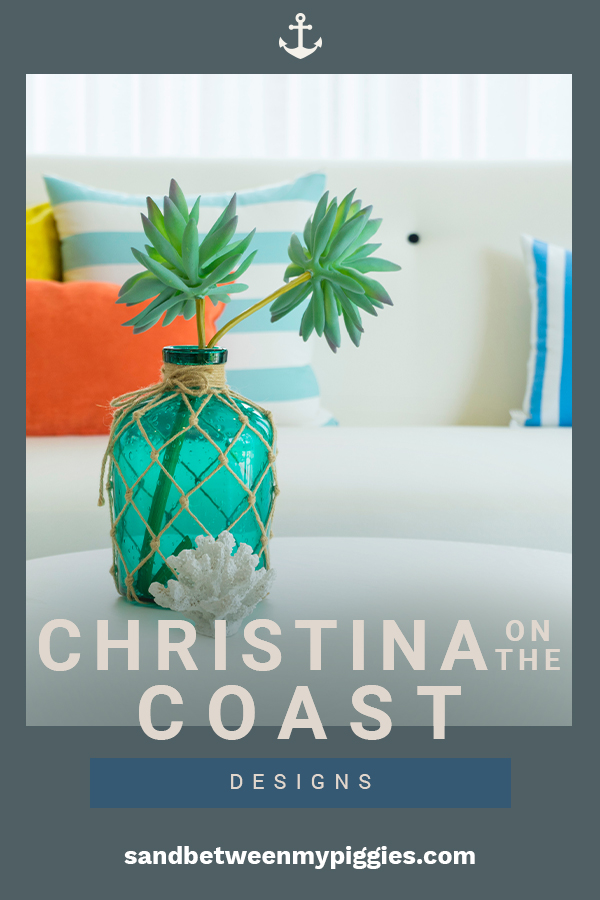 I couldn't tell you how excited I was when Christina got her own coastal show. I might as well be her soul sister. If you love coastal home decor, you are going to love the ideas we are sharing. They are Christina's ideas for the latest in home decor. Keep reading. Life's a beach and even better when Christina is offering her design advice. #coastalhomedecor #coastaldecortrends #christinaonthecoast